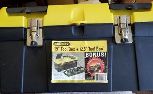 Stanley tool box with good starter set of 21 tools for Sale in Oklahoma City, OK