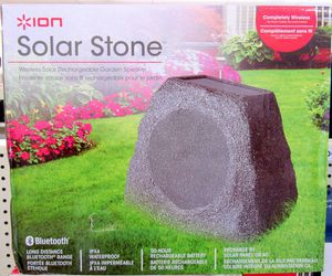 Ion Solar Stone Bluetooth Speaker for Sale in Columbus, OH
