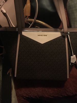 Whitney large top zip twill tote bag Michael Kors for Sale in Haines City, FL