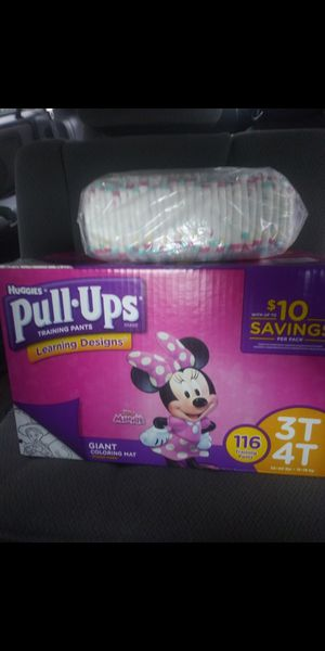 Huggies Pull-Ups 3T 4T 116 count in box Plus 1 pack for Sale in Philadelphia, PA
