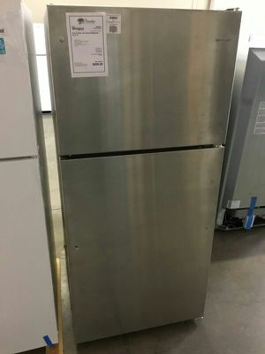 New Whirlpool Stainless Steel 18 CuFt Top Mount Refrigerator! for Sale in Gilbert, AZ