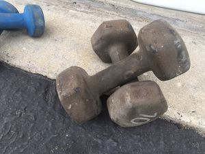 2 -5lbs and 2 - 10 Lbs weights $20.00 for Sale in Chino Hills, CA