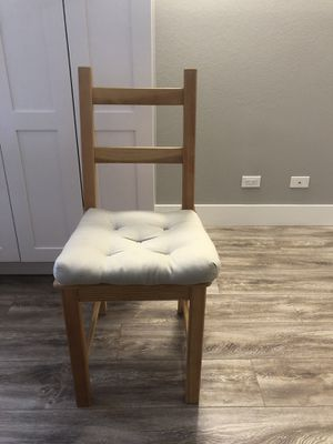 Two ikea wooden chairs with cushion for Sale in San Francisco, CA