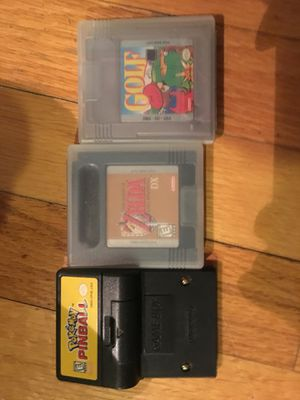 Gameboy Nintendo games ZELDA, Pokémon pinball, Mario golf party, vintage video games for Sale in Mansfield, MA