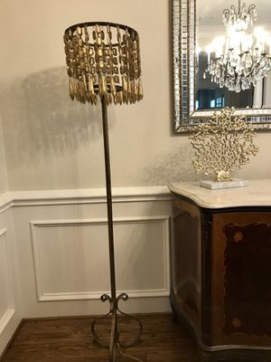 Gold crystal floor lamp for Sale in Southlake, TX