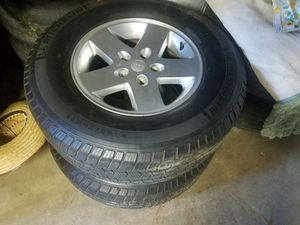 Wheels and tires P265/70R17 Michelin for Sale in Poway, CA