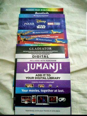 Digital 4K and HD movies Disney marvel vudu ma bad boys 4k for Sale in Grapevine, TX