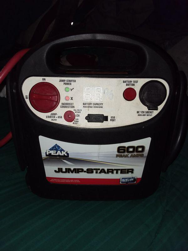 Peak Performance 600 peak amps Jump Starter