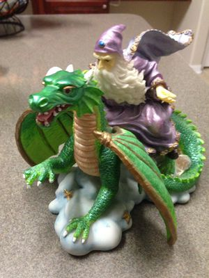 Dragon and wizard figure for Sale in Tampa, FL