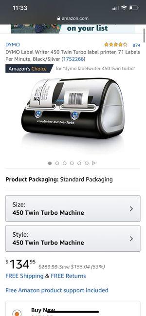DYMO Label Writer 450 Twin Turbo label printer, 71 Labels Per Minute, Black/Silver for Sale in Fresno, CA