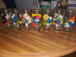 Smurfs chipmunks star wars collectable glasses for Sale in North Charleston, SC