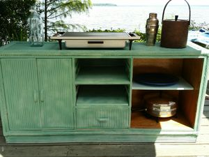 Vintage Bamboo Sideboard Crendeza Buffet Shabby Chic for Sale in Pensacola, FL