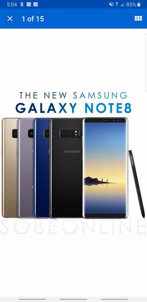 Samsung Galaxy Note 8 (unlocked) for Sale in Douglasville, GA
