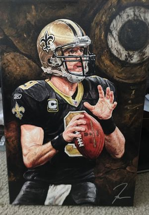 Drew brees painting 18 by 12 for Sale in Greenwell Springs, LA