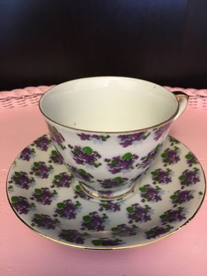 Purple Pansies (China) vintage tea cup and saucer for Sale in Cornelius, OR