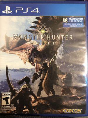 Monster Hunter World [PS4] for Sale in Abilene, TX