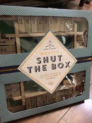 New deluxe wood shut the box game - ages 6+ - four players for Sale in AZ, US