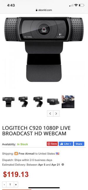 Logitech 1080P HD Webcam for Sale in Wichita Falls, TX