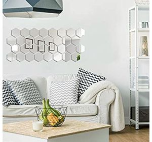 Brand new 32 Pieces Removable Acrylic Mirror Setting Wall Sticker Decal for Home Living Room Bedroom Decor (10 x 8.6 x 5 cm) for Sale in Baltimore, MD