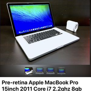 50$ Off Cash and offer payment only, Apple Laptop MacBook Pro 15inch 2011, Core i7 2.2ghz 8gb 500gb for Sale in Brooklyn, NY