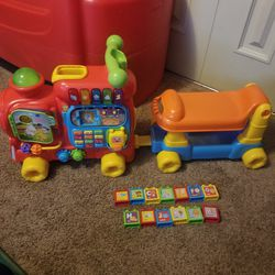 Vtech sit to stand train for Sale in Mesick,  MI