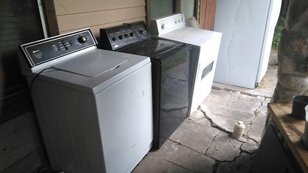 All 3 run 2 washer 1 dryer for $400 w/ fridge 500