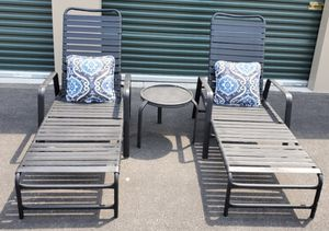 3 piece outdoor patio set furniture with pillows FREE DELIVERY WITHIN 5 MILES for Sale in Las Vegas, NV
