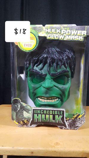 Hulk power glow mask for Sale in Montebello, CA