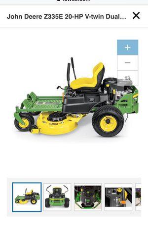 John Deere Z335E 20-HP V-Twin Dual Hydrostatic 42-in Zero Turn Riding Lawn mower with Mulching Capability for Sale in Brooklyn, NY