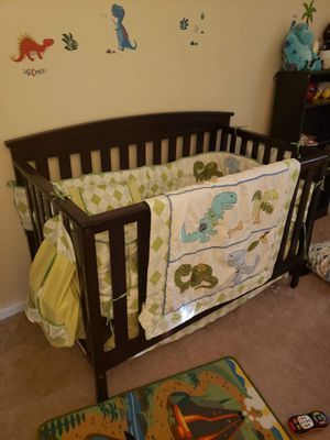 Dinosaur Theme Nursery Set with Diaper Bag for Sale in Hampton, VA