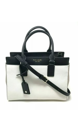 Kate Spade Cameron Medium Satchel Crossbody Beige Black Handbag WKRU6357 $399 for Sale in Kenosha, WI