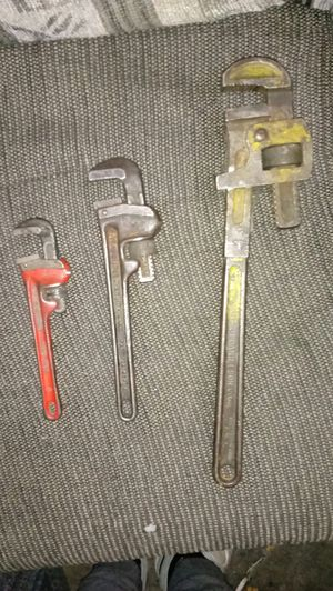 "3 monkey wrench set 16"" 10"" 7"" all work great for Sale in St. Louis, MO"