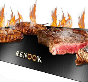 RENOOK Grill Mat, Heavy Duty 600 Degree Non Stick BBQ Mats, Easy to Clean & Reusable, Gas Charcoal Electric for Sale in Lathrop, CA