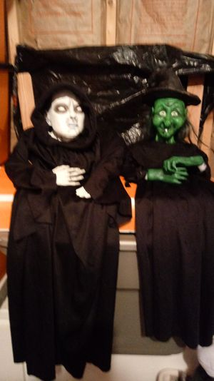 Halloween Ghoul and Witch (resin) for Sale in Martinsburg, WV