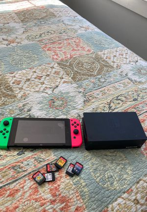 Nintendo Switch Bundle - 6 games - wired controller. for Sale in Cornelius, NC