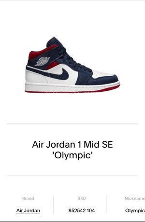 Air Jordan 1 Mid SE Olympics for Sale in Colton, CA