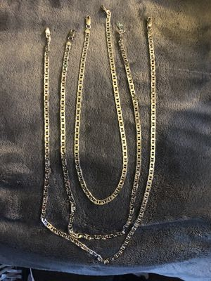 925 real Italy silver chains One size 22 inch the other side 24 inch for Sale in San Diego, CA