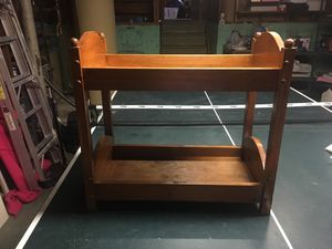 Bunk beds for dolls. American girl fit perfect in it. for Sale in OSBORNVILLE, NJ