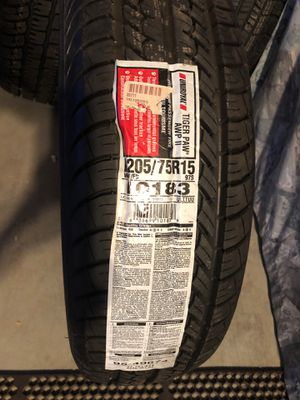 Tire 205/75R15 tiger paw brand new for Sale in Rancho Cucamonga, CA