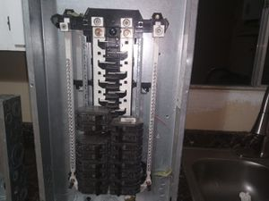 Ge powermark gold load center. With 8 double pole 30amp breakers for Sale in Colorado Springs, CO