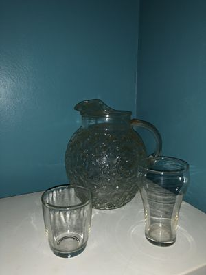 Antique Glass Beverage Serving Set for Sale in Lorain, OH