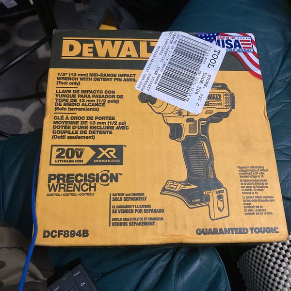 Dewalt 1/2 In Drive Mid-Range Impact Wrench With Detent Pin Anvil (Tool Only)