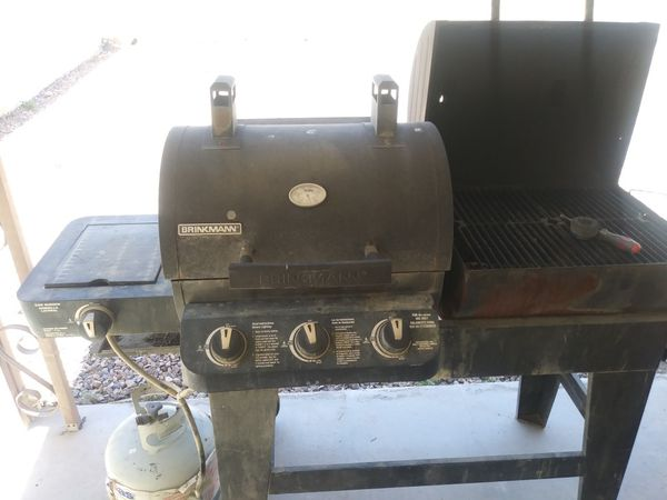 Both gas and charcoal BBQ GRILL