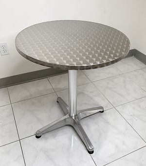 "New $20 Aluminum 24"" Round Table Stainless Steel Top with Base Indoor Outdoor, Height 27"" for Sale in Whittier, CA"