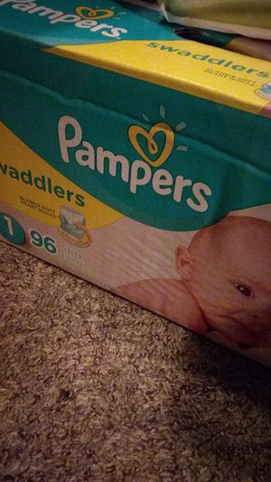 Pamper swaddlers & huggies wipes for Sale in Norman, OK