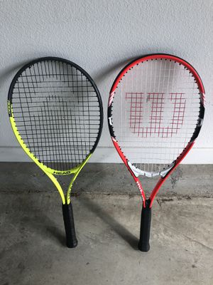 Two adult tennis rackets for Sale in Glendora, CA