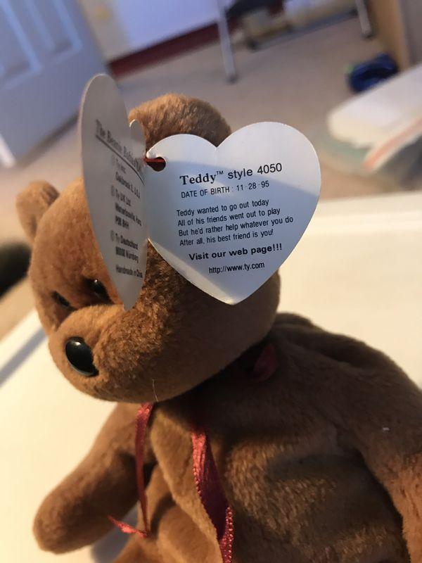 TY beanie baby teddy style 4050
