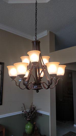 Hampton Bay 9 light chandelier. for Sale in Lake Worth, FL