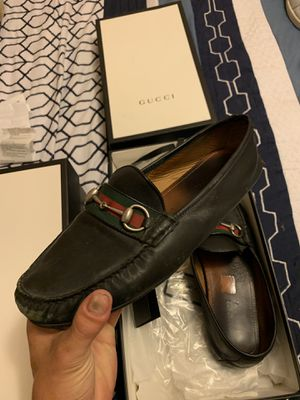 Men's auth Gucci Loafers w box and receipt size 9 for Sale in Citrus Hills, FL