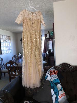 Gold prom / wedding dress for Sale in Visalia, CA